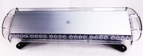 30 inch Permanent Mount Warning LED Light Bar Emits Half Amber Half White
