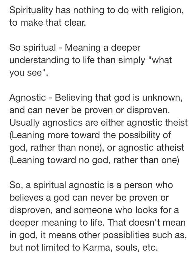Good explanation- Lately I've come to think of myself as a kind of agnostic theist