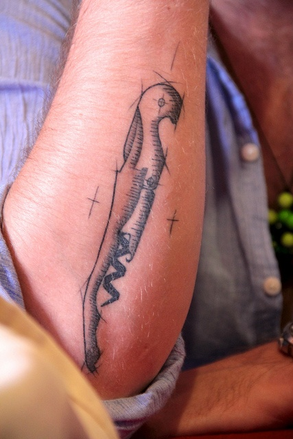 Now that's a wine tattoo! On the arm of one Donald Edwards, if you must know (@donalde)