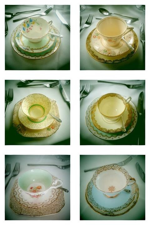 lovely Itsy Bitsy Vintage table settings!