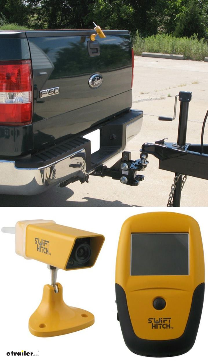 Hitch alignment system makes it easy to back your truck up to your trailer for hookup. Simplifies lining up hitch ball with coupler. Perfect for hitching up your gooseneck trailer, fifth wheel trailer or even the snowplow blade. Can also be used as a backup camera and monitoring device.