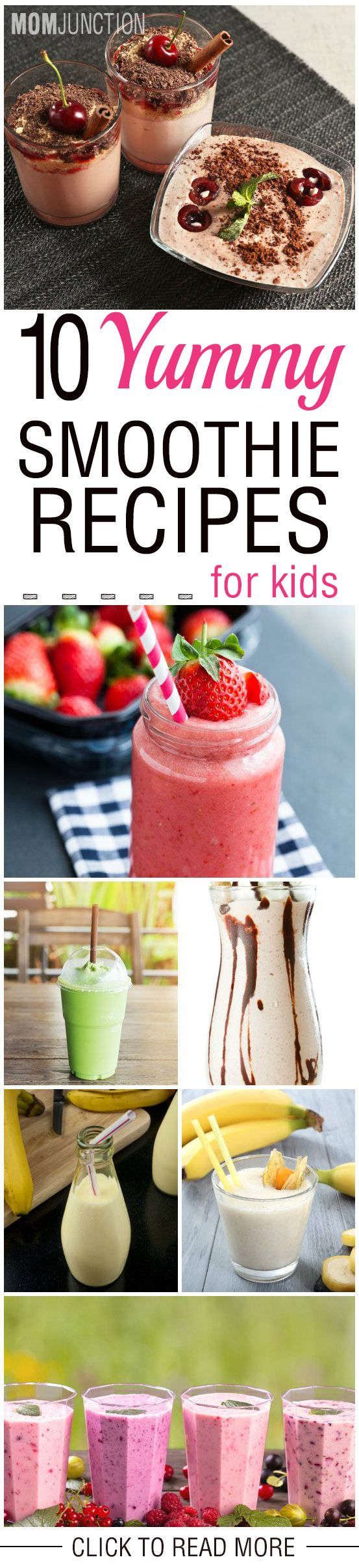 10 Yummy Smoothie Recipes You Must Try For Your Kids: Kids are attracted by the colors of smoothies, so your picky eater will not hesitate in having one.Here are some smoothie recipes which you can try. Have a look