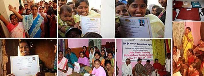 Weaving dreams in Jute, Gadag   Art of Living India initiatives