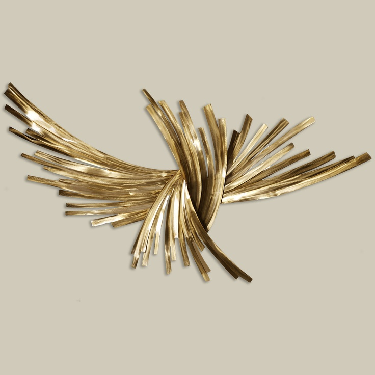 Metal wall sculpture art the art of donnie wanner with for Gold wall art