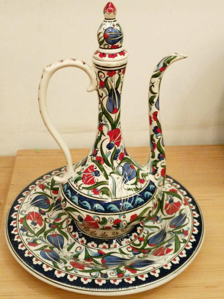 HANDMADE IZNIK CERAMIC PITCHER