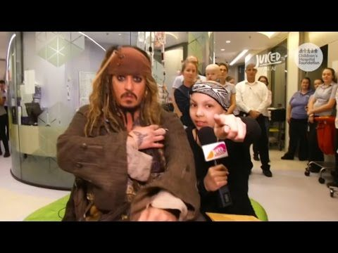 Captain Jack Sparrow to save the day! In this heartfelt and inspiring video, Johnny Depp surprises sick children by dressing up as Captain Jack Sparrow and visiting them in the hospital.