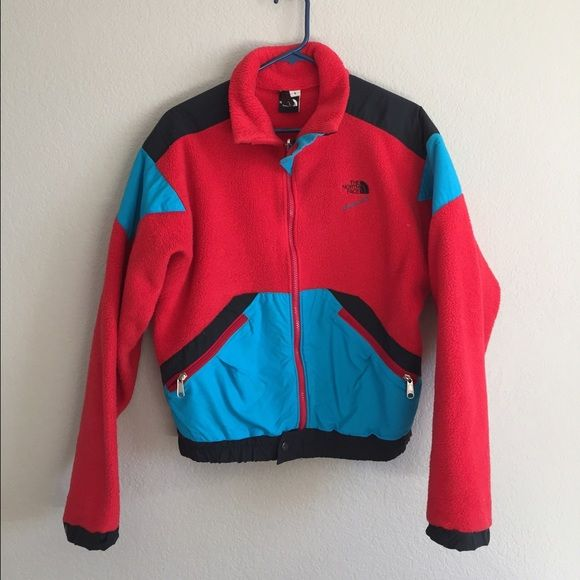 Vintage North Face fleece Amazing vintage North Face Excellent condition, women's small. There are snaps for where a hood could attach but the fleece does not come with a hood. North Face Jackets & Coats