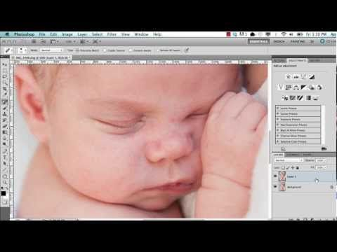 Newborn Photo Edit - YouTube Excellent photoshop tutorial
