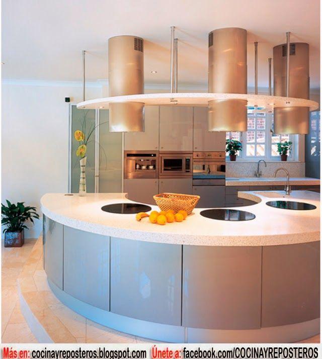 Cocinas circulares ideas hogar pinterest cocinas for Cocinas integrales redondas