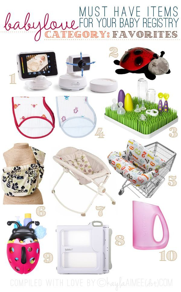 23 Best Baby Registry Checklist Must Haves List Etiquette