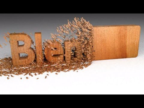 Blender Tutorial: Wood Chipping Text Animation - YouTube