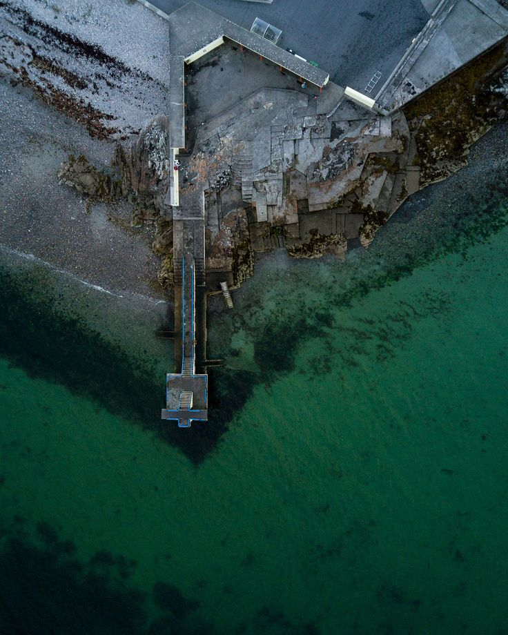 Mavic pro shot of the Blackrock diving boards in Salthill, Galway, Ireland.