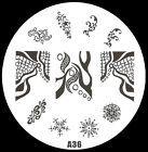 A36 disegni che copron tutta l'unghia Nail art stamping