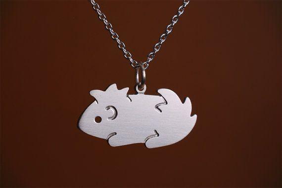 Cute Handmade Guinea Pig Necklace