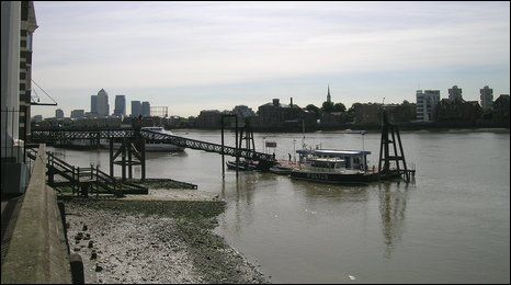 The site of Execution Dock in Wapping