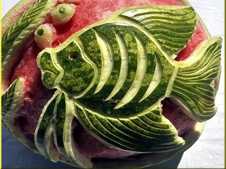Best fruit carving pictures images on pinterest