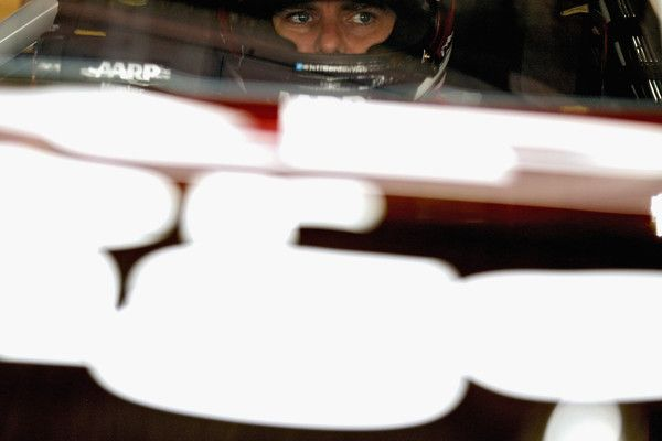 Jeff Gordon Photos Photos - Jeff Gordon, driver of the #24 AARP Member Advantages Chevrolet, sits in his car in the garage area during practice for the NASCAR Sprint Cup Series AAA 400 at Dover International Speedway on October 3, 2015 in Dover, Delaware. - Dover International Speedway - Day 2
