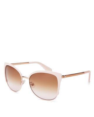 kate spade new york Genice Cat Eye Sunglasses, 57mm | Imported | 100% UV protection | Heart logo at temples | 57 mm lens width | Web ID:1622802