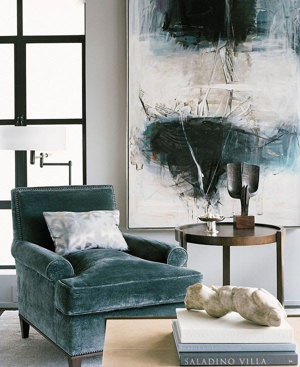 The chair and the art! Looooove   dustjacket attic: Interiors | San Francisco Pied-à-Terre