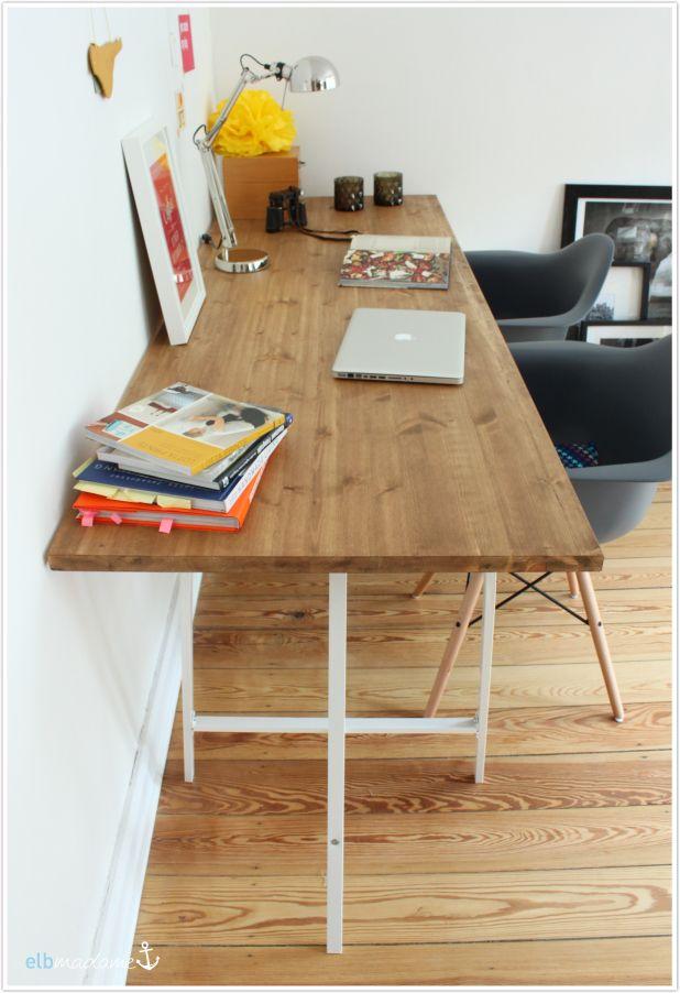 Die Besten 25+ Schreibtisch Holz Ideen Auf Pinterest