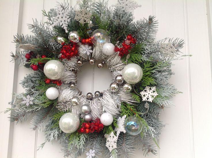 Couronne de Noel sur ma porte