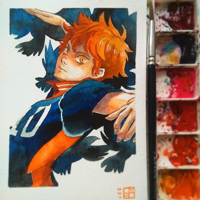 A Hinata Shouyou fanart for commission for @lylively  My commission slots are still open. Comment below if interested hehe  and I just received a notice that my zines are gonna be done tomorrow from the printer!!! Those of you who ordered it, I'll send them out on Monday because the post office is closer on weekends  #art #mangaart #mangadrawing #manga #anime #animeart #animedrawing #drawing #illustration #doodle #cartoon #sketch  #artistspotlight #animearthelps #instaart #watercolour…
