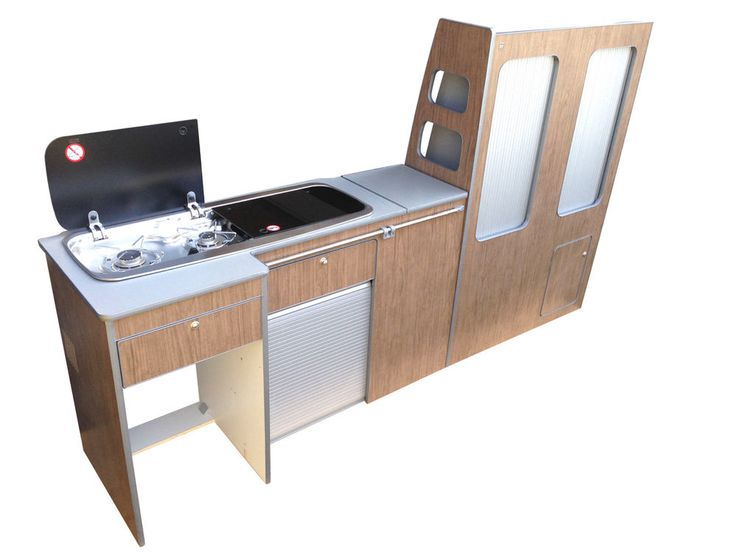 Furniture Kit 1200 RIB seat -VW T5 Short Wheel base van. Full side unit with draw, table, tambour door. Self assembley, designed for Webasto Cruise 49l and Smev 9222. Designed to work withe RIB 1200mm wide seat bed. | eBay!