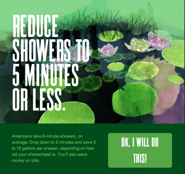 Reduce showers to 5 minutes or less! Hard but not impossible. http://ow.ly/albdk