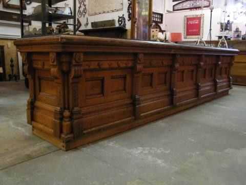 Columbus Architechural Salvage - Victorian Oak Store Counter