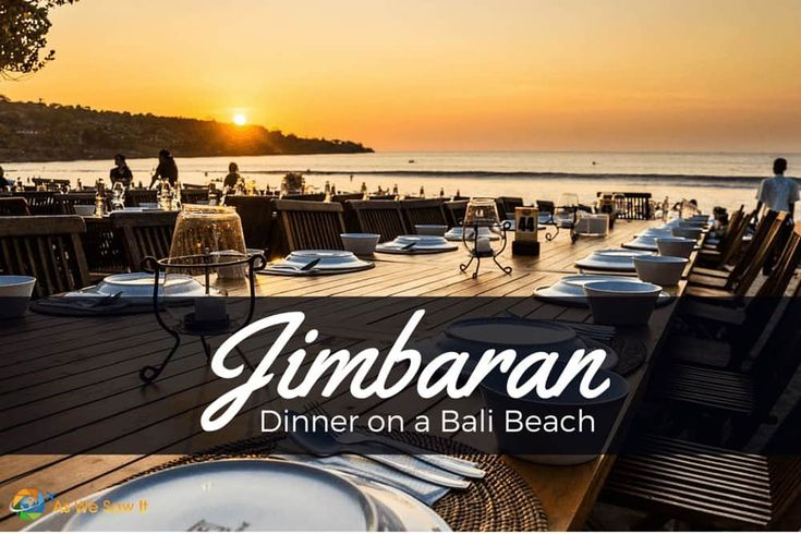 The most popular spot in Bali fordinneron the sand is alongJimbaran beach, where numerous seafood restaurants line the water.