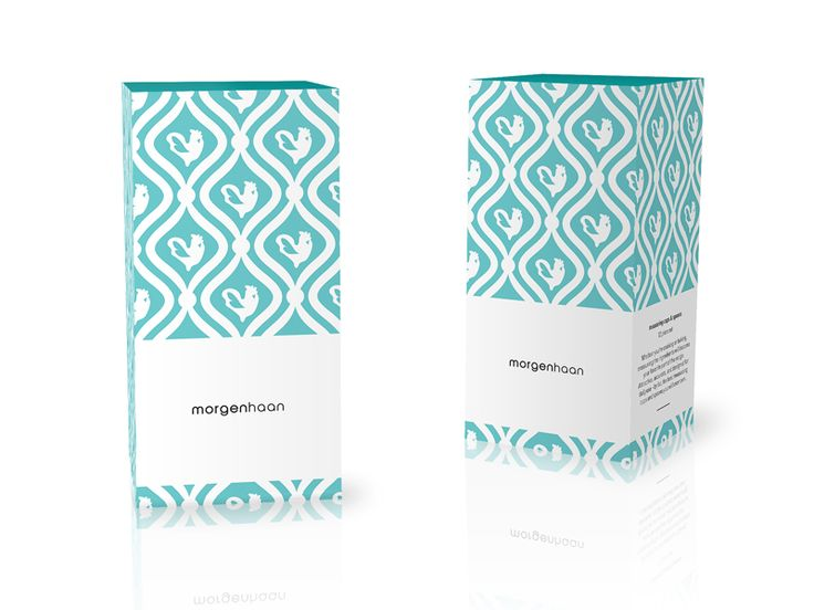 Package design using pattern based on brand's logo.