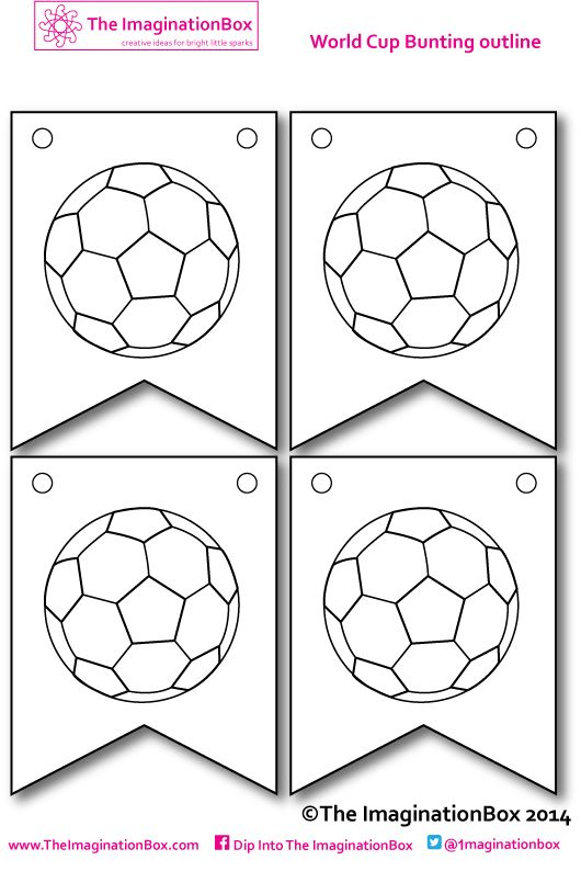 World Cup 2014 kicks off here - make your own bunting, free to download at The ImaginationBox