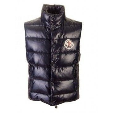 Cheap Womens Moncler Down Vests Black