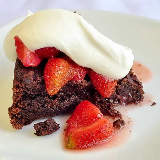 Chocolate Souffle Cake - a gluten freee recipe