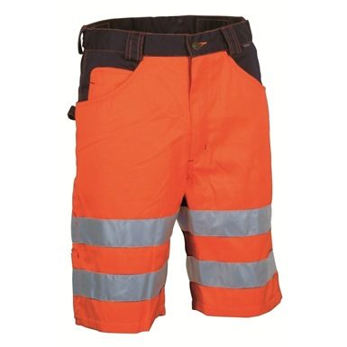 Ideal for when visibility and light are at a minimum, these Cofra V074 Visible High Vis Shorts are designed to raise your visual profile. They ensure you're seen whilst working,  by utilising a fluorescent finish and retro-reflective reflex. Feature wide pockets and a hammer loop.