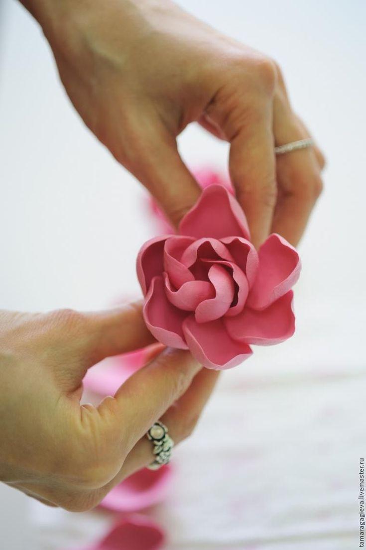 Лепим цветочек гардению из полимерной глины - Ярмарка Мастеров - ручная работа, handmade