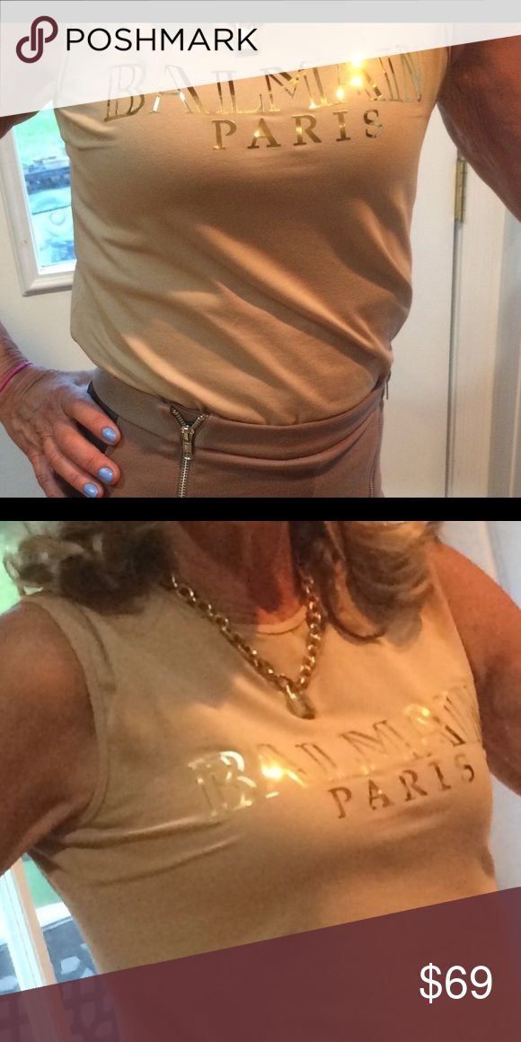 BALMAIN top BALMAIN top sleeveless call buttons on the side original excellent condition only tried, Many more to come Balmain Tops Tank Tops