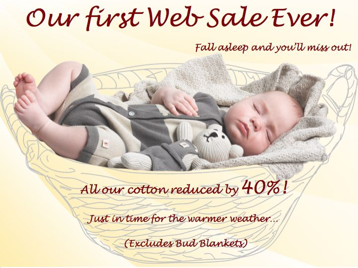 Our first ever sale!!!  40% off....