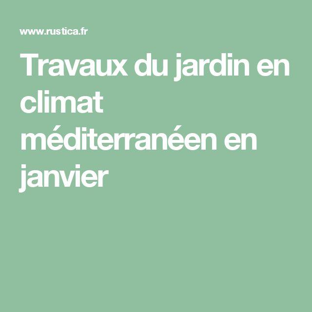 Travaux du jardin en climat méditerranéen en janvier