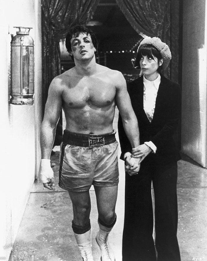"""Sylvester Stallone y Talia Shire en""""Rocky"""", 1976"""