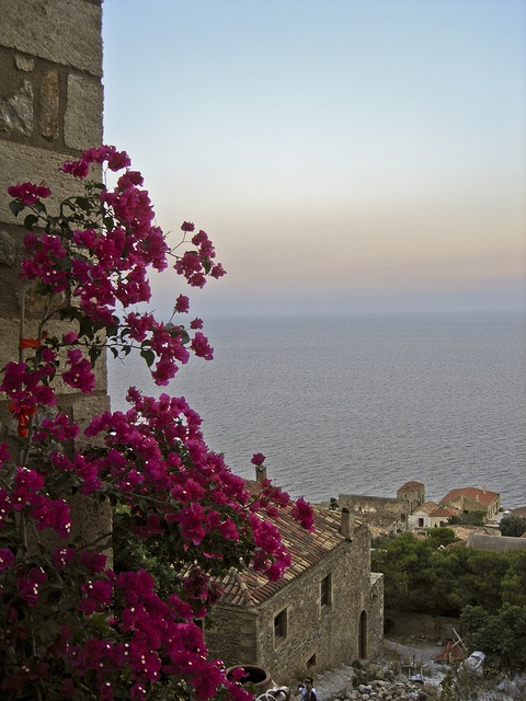 View to the Myrtoan Sea from Monemvasia's Old Town by HellasHoliday, via Flickr by www.HellasHoliday.com