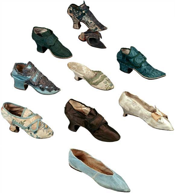 18th Century shoes via Colonial Williamsburg