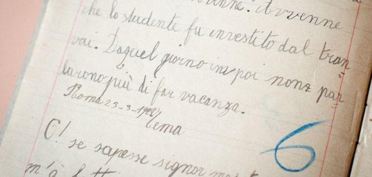 In mostra 100 anni di quaderni di scuola dei bambini milanesi