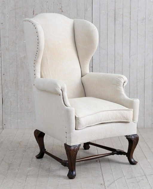 19th c english wing back chair
