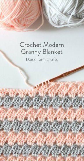Padrão Livre - Crochet Modern Granny Blanket ...