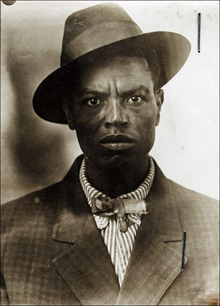 Mugshot from Arkansas State Prison (1915-1937) - found & printed by Bruce Jackson.