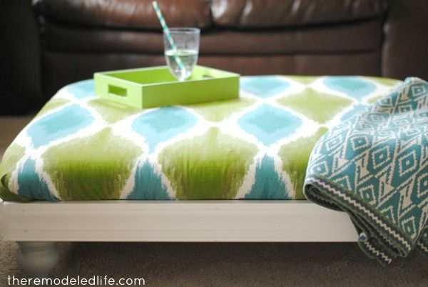 The Remodeled Life: Winter Pinterest Challenge: A Fabric Ottoman