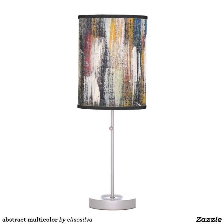 abstract multicolor lámpara de mesa