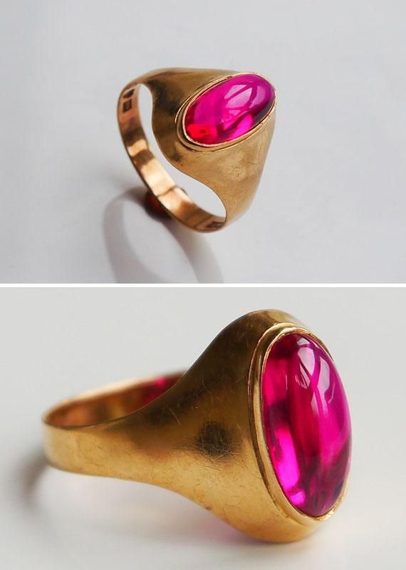 A ruby for your ring finger. #etsyjewelry