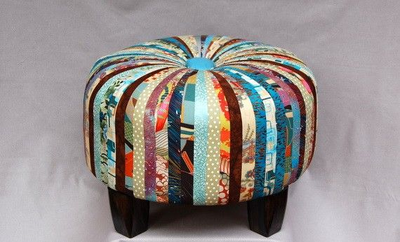 footstool - make with old ties?